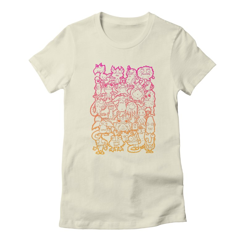 Monster Party - The Great Meeting  Orange/Pink Women's T-Shirt by ARTinfusion - Get your's now!