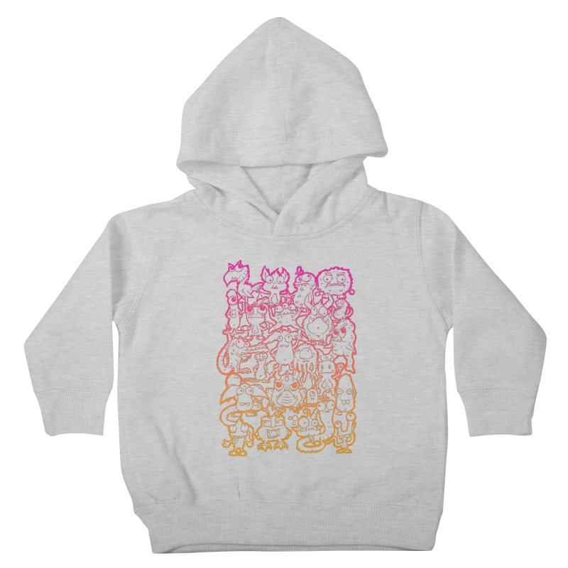 Monster Party - The Great Meeting  Orange/Pink Kids Toddler Pullover Hoody by ARTinfusion - Get your's now!