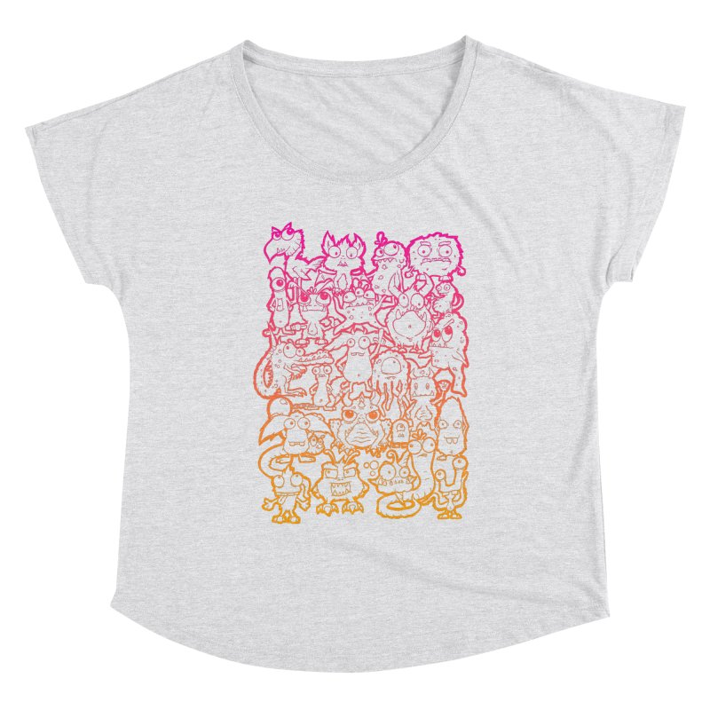 Monster Party - The Great Meeting  Orange/Pink Women's Scoop Neck by ARTinfusion - Get your's now!