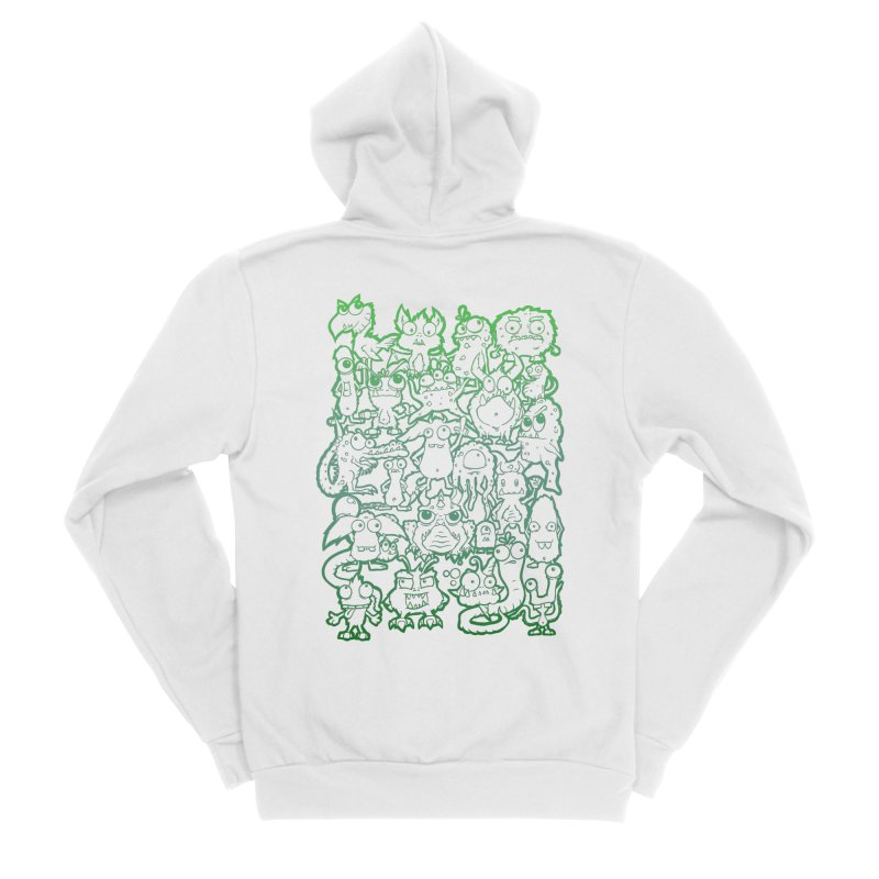 Monster Party - The Great Meeting! Green Edition Men's Zip-Up Hoody by ARTinfusion - Get your's now!