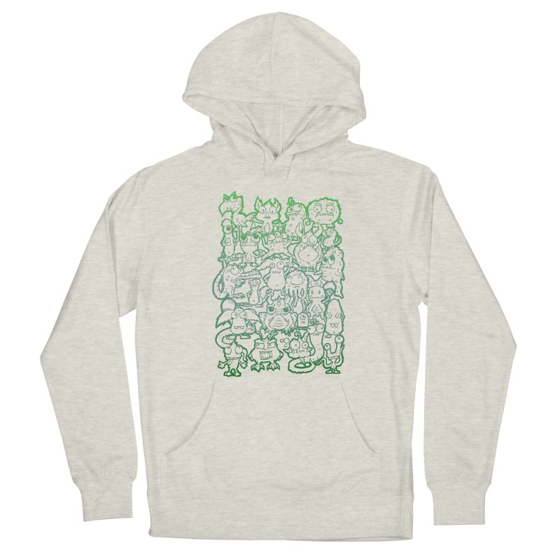 Monster Party - The Great Meeting! Green Edition Women's Pullover Hoody by ARTinfusion - Get your's now!