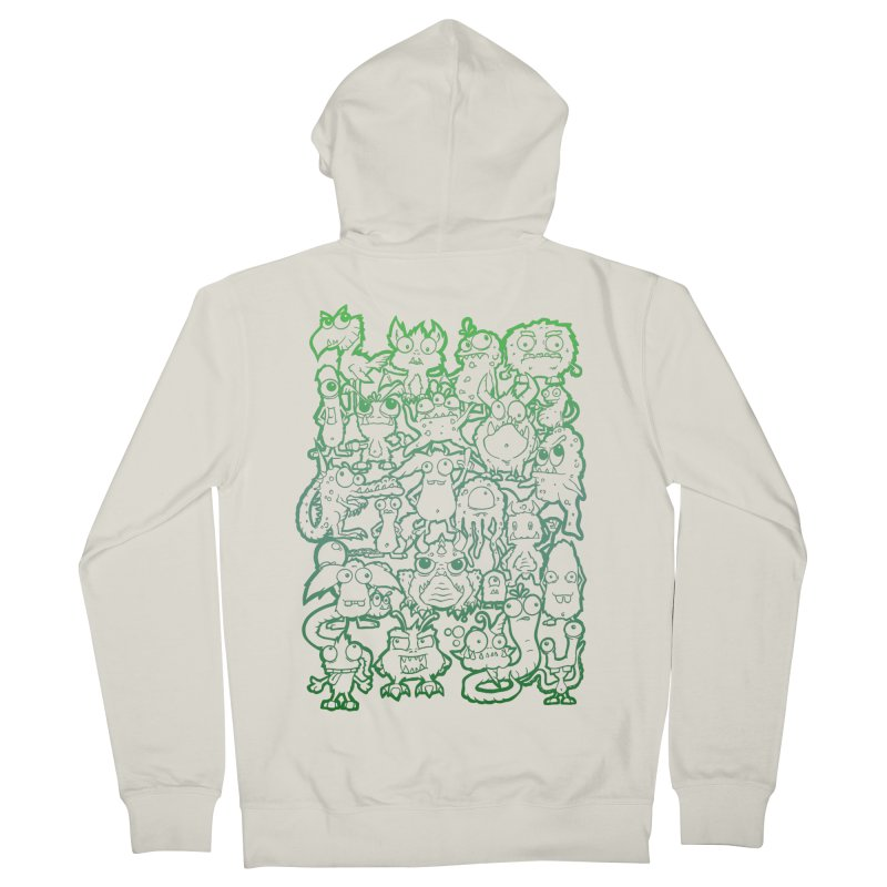 Monster Party - The Great Meeting! Green Edition Women's Zip-Up Hoody by ARTinfusion - Get your's now!