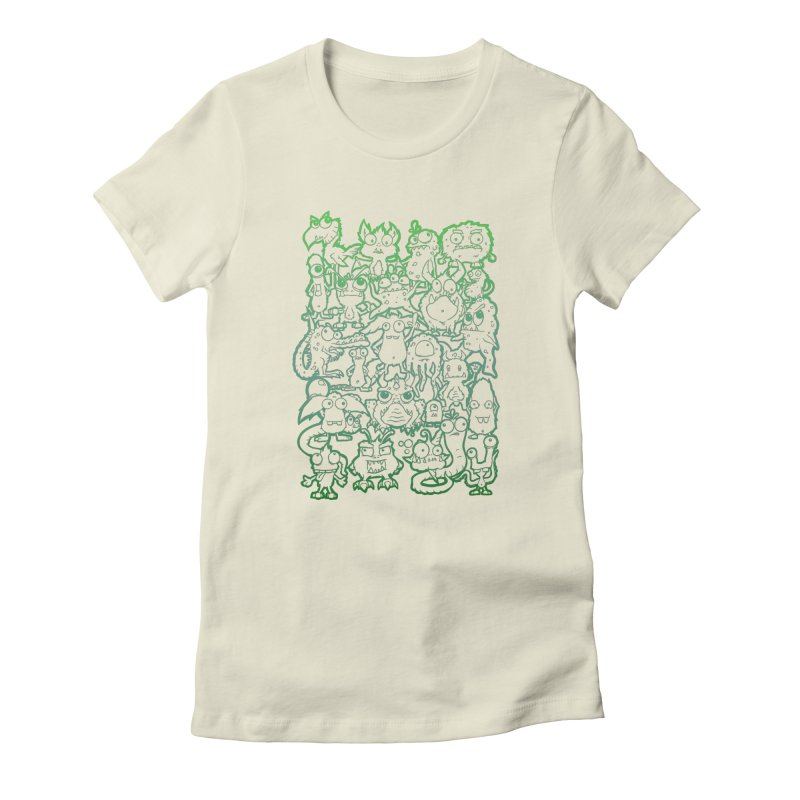 Monster Party - The Great Meeting! Green Edition Women's T-Shirt by ARTinfusion - Get your's now!