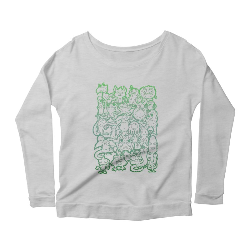 Monster Party - The Great Meeting! Green Edition Women's Longsleeve T-Shirt by ARTinfusion - Get your's now!