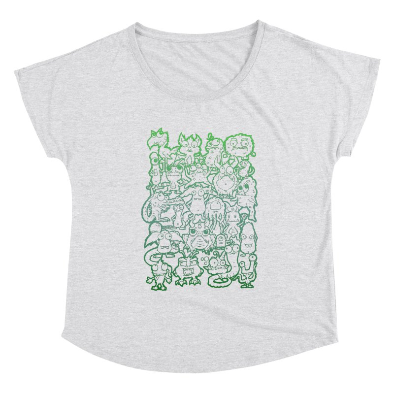 Monster Party - The Great Meeting! Green Edition Women's Scoop Neck by ARTinfusion - Get your's now!