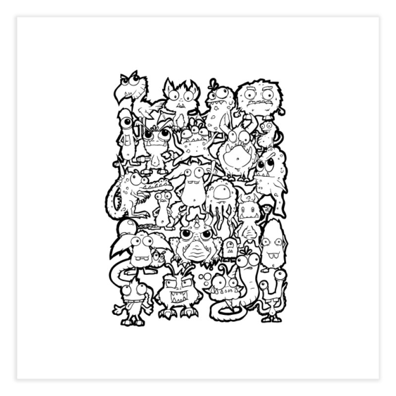 Monster Party - The Great Meeting!  Classic Edition Home Fine Art Print by ARTinfusion - Get your's now!