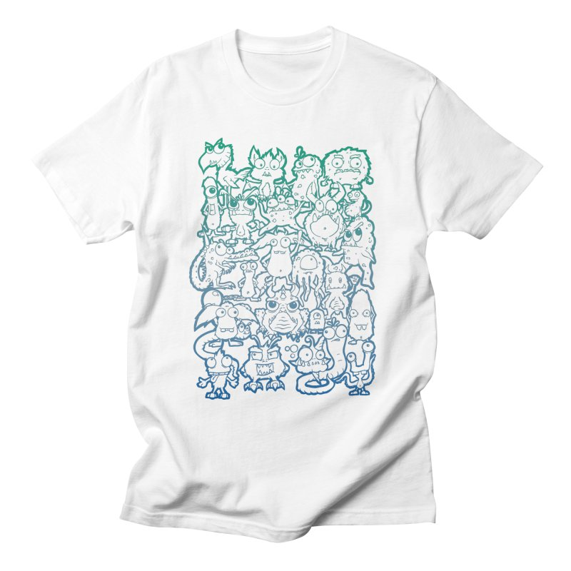 Monster Party - The Great Meeting! Blue Edition Men's T-Shirt by ARTinfusion - Get your's now!