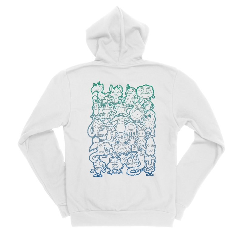 Monster Party - The Great Meeting! Blue Edition Women's Zip-Up Hoody by ARTinfusion - Get your's now!