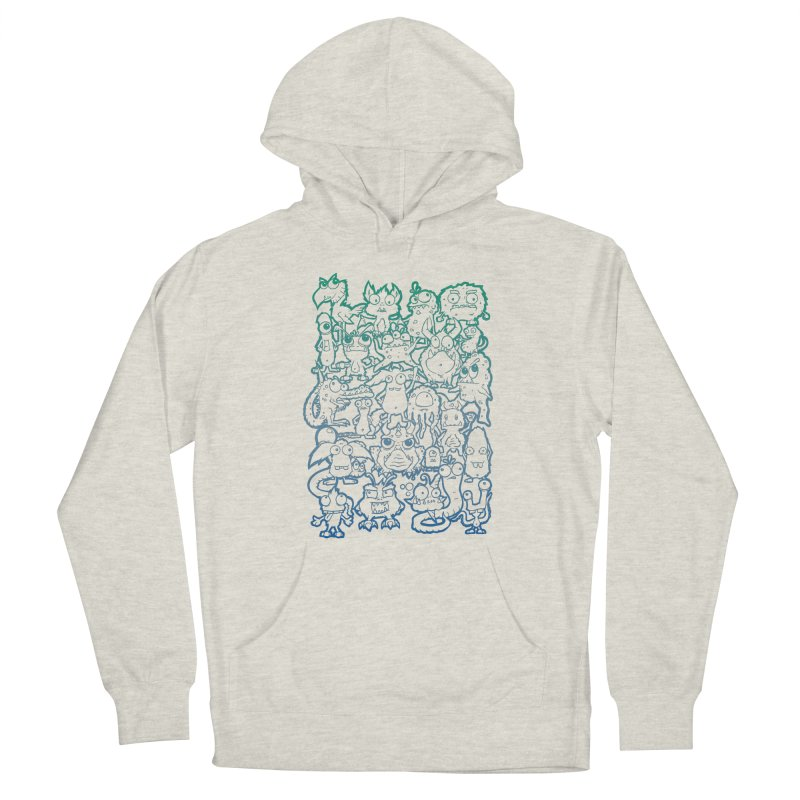 Monster Party - The Great Meeting! Blue Edition Women's Pullover Hoody by ARTinfusion - Get your's now!