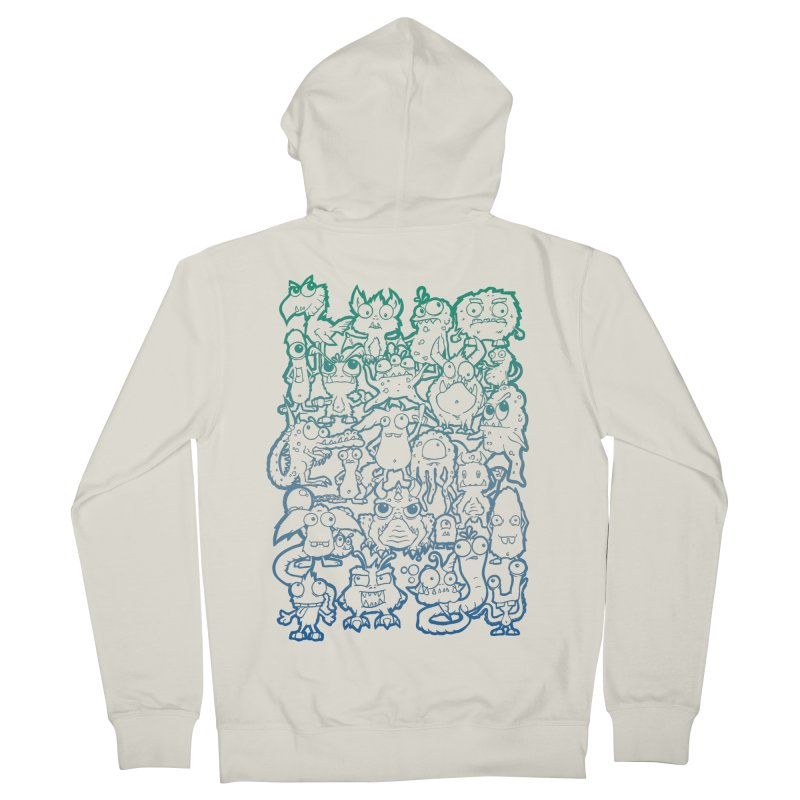 Monster Party - The Great Meeting! Blue Edition Men's Zip-Up Hoody by ARTinfusion - Get your's now!