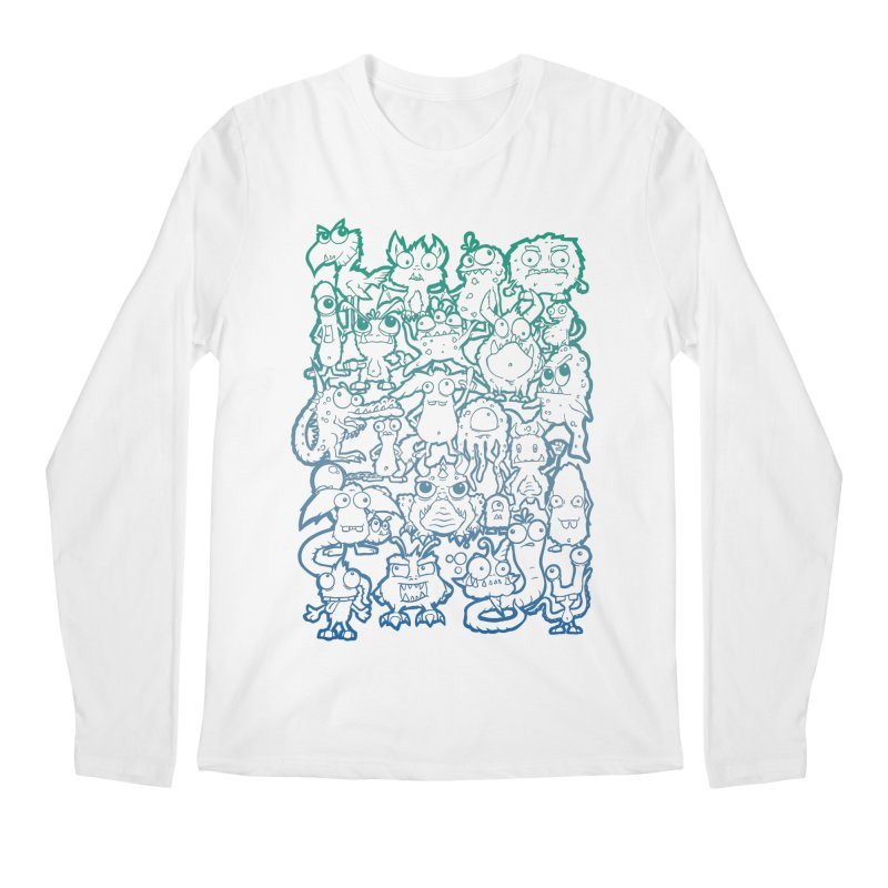 Monster Party - The Great Meeting! Blue Edition Men's Longsleeve T-Shirt by ARTinfusion - Get your's now!