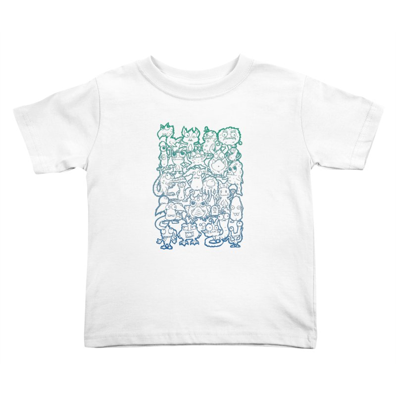 Monster Party - The Great Meeting! Blue Edition Kids Toddler T-Shirt by ARTinfusion - Get your's now!