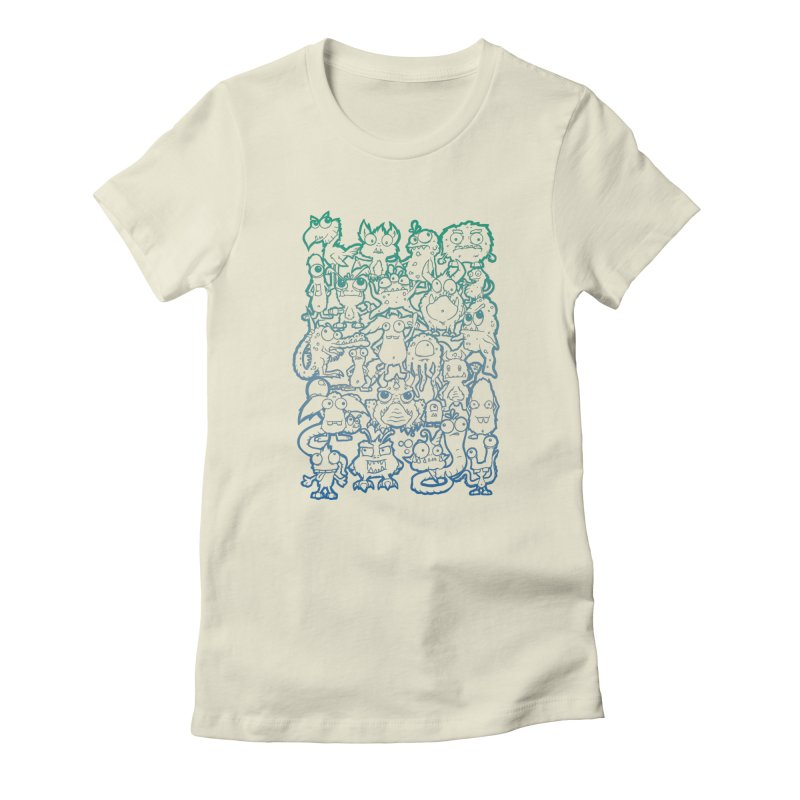 Monster Party - The Great Meeting! Blue Edition Women's T-Shirt by ARTinfusion - Get your's now!