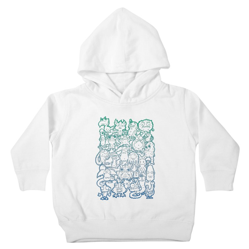 Monster Party - The Great Meeting! Blue Edition Kids Toddler Pullover Hoody by ARTinfusion - Get your's now!