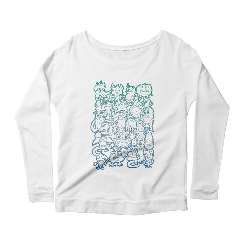 Monster Party - The Great Meeting! Blue Edition Women's Longsleeve T-Shirt by ARTinfusion - Get your's now!