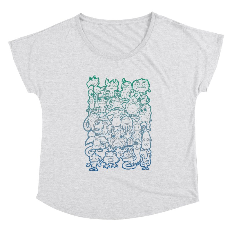 Monster Party - The Great Meeting! Blue Edition Women's Scoop Neck by ARTinfusion - Get your's now!