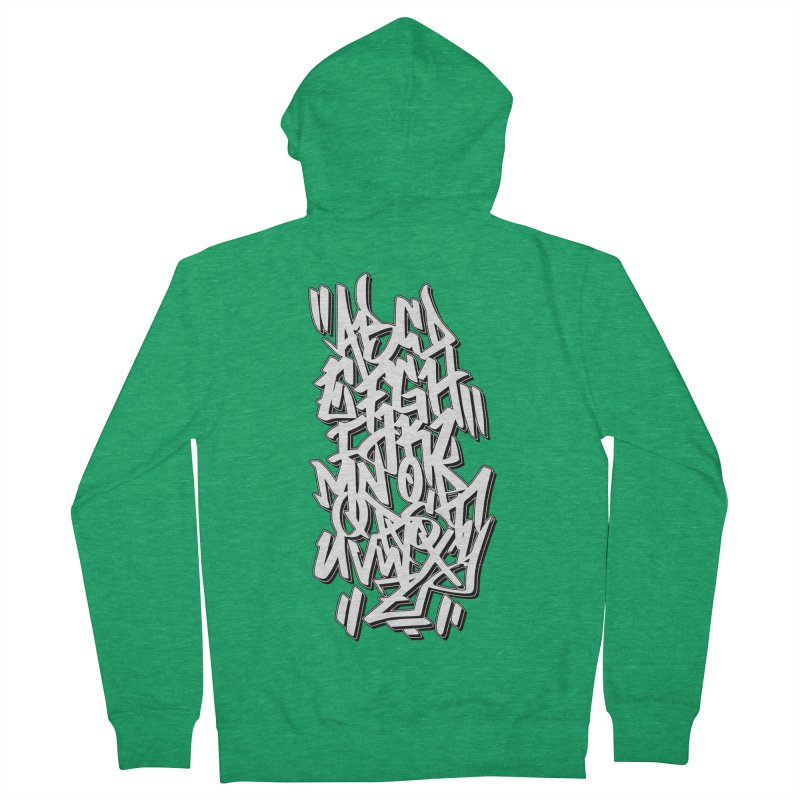 Graffiti Tag ABC - Classic Edition Men's Zip-Up Hoody by ARTinfusion - Get your's now!