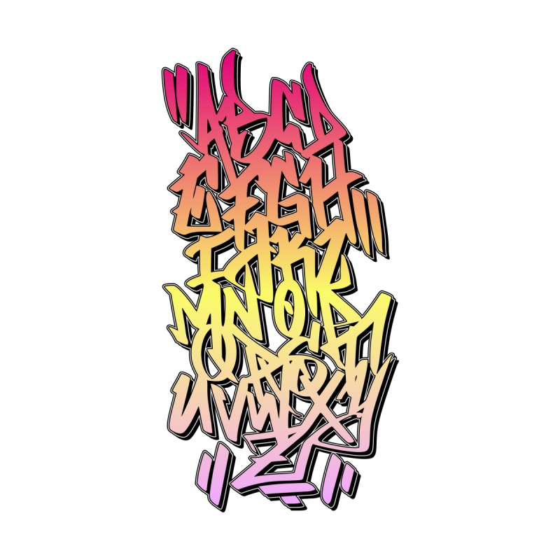 Graffiti Tag ABC - Color Edition Women's Pullover Hoody by ARTinfusion - Get your's now!