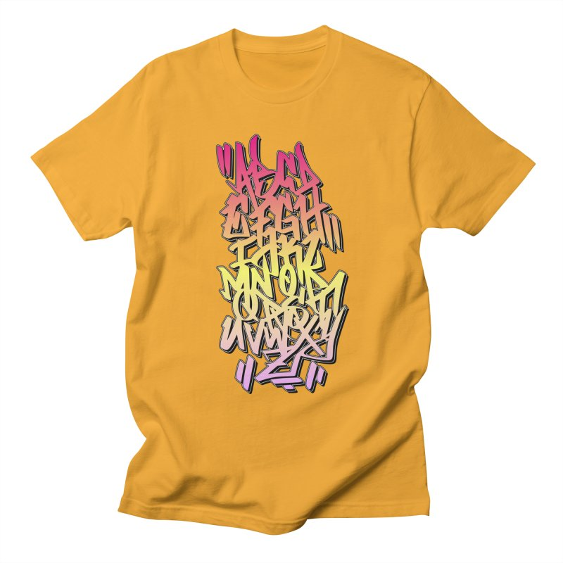 Graffiti Tag ABC - Color Edition Men's T-Shirt by ARTinfusion - Get your's now!