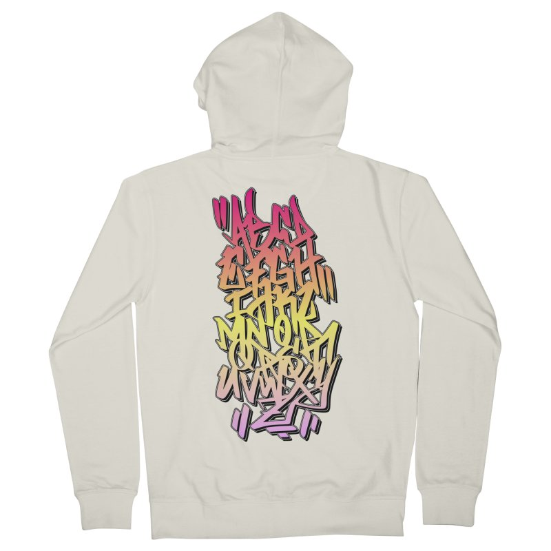 Graffiti Tag ABC - Color Edition Women's Zip-Up Hoody by ARTinfusion - Get your's now!