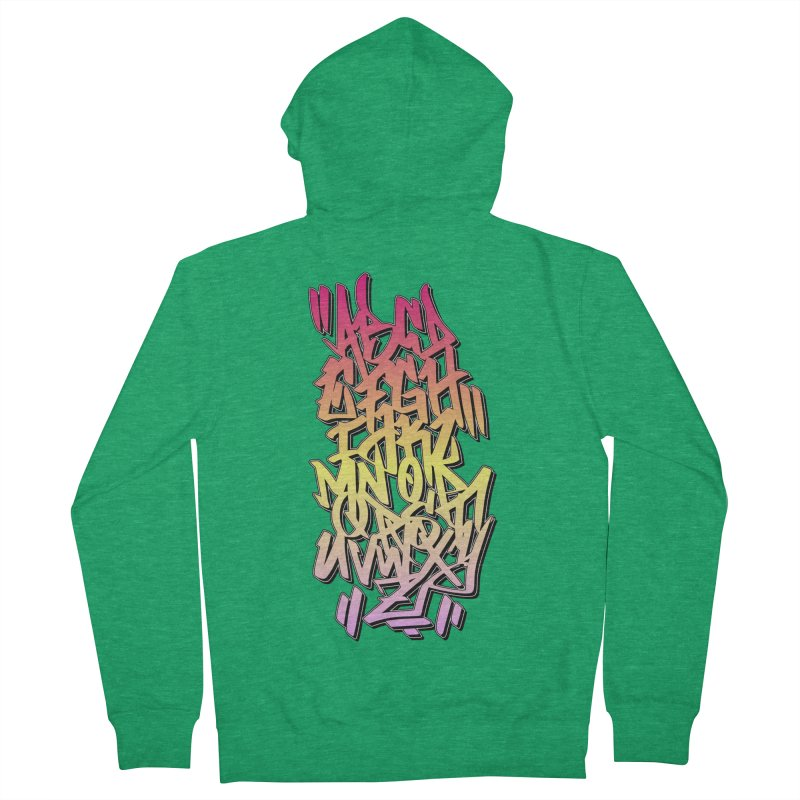 Graffiti Tag ABC - Color Edition Men's Zip-Up Hoody by ARTinfusion - Get your's now!