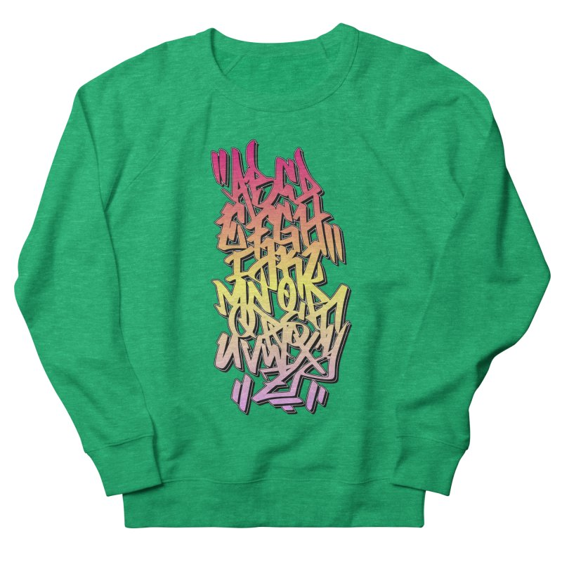 Graffiti Tag ABC - Color Edition Women's Sweatshirt by ARTinfusion - Get your's now!