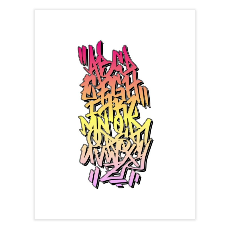 Graffiti Tag ABC - Color Edition Home Fine Art Print by ARTinfusion - Get your's now!