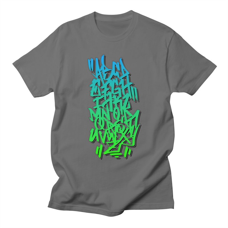 Graffiti Tag ABC - Green Edition Men's T-Shirt by ARTinfusion - Get your's now!