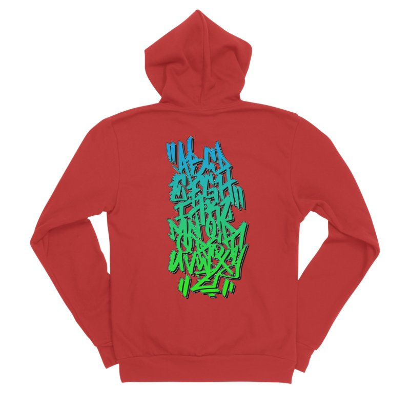 Graffiti Tag ABC - Green Edition Men's Zip-Up Hoody by ARTinfusion - Get your's now!