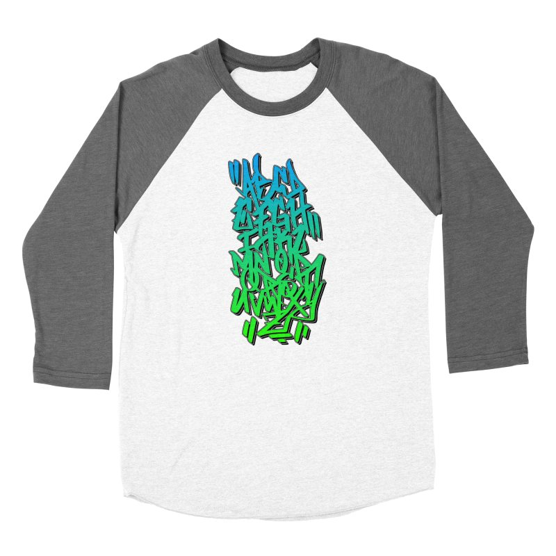 Graffiti Tag ABC - Green Edition Women's Longsleeve T-Shirt by ARTinfusion - Get your's now!