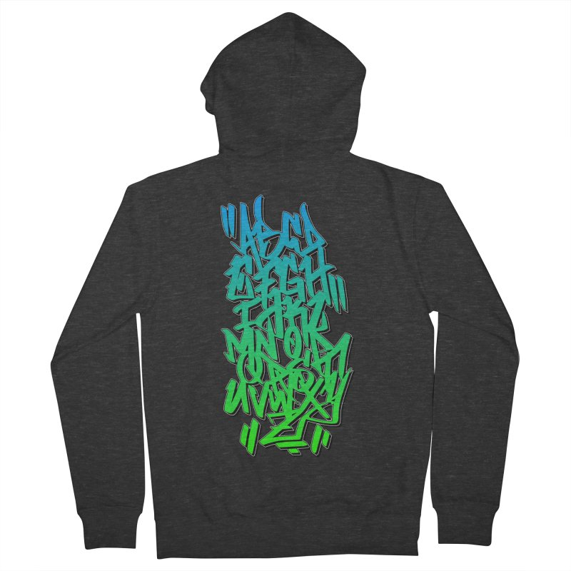 Graffiti Tag ABC - Green Edition Women's Zip-Up Hoody by ARTinfusion - Get your's now!