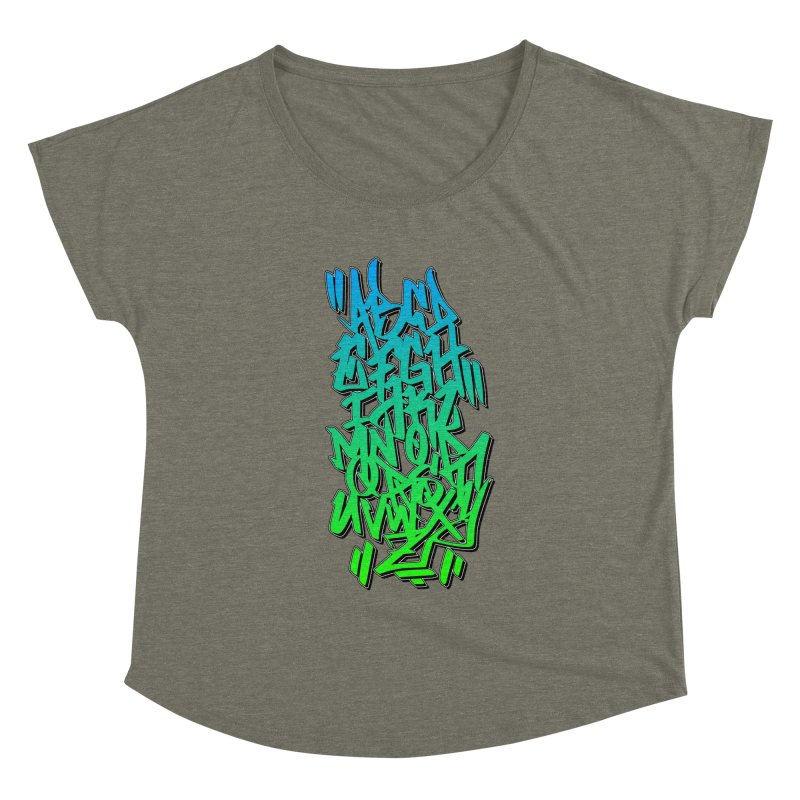 Graffiti Tag ABC - Green Edition Women's Scoop Neck by ARTinfusion - Get your's now!