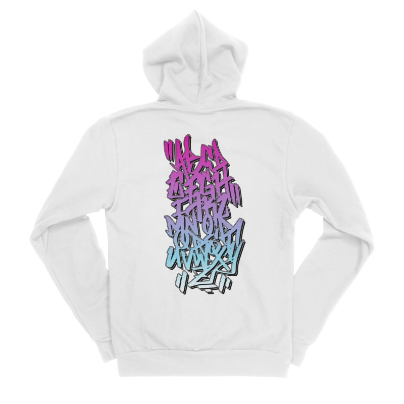 Graffiti Tag ABC - Pink Edition Men's Zip-Up Hoody by ARTinfusion - Get your's now!