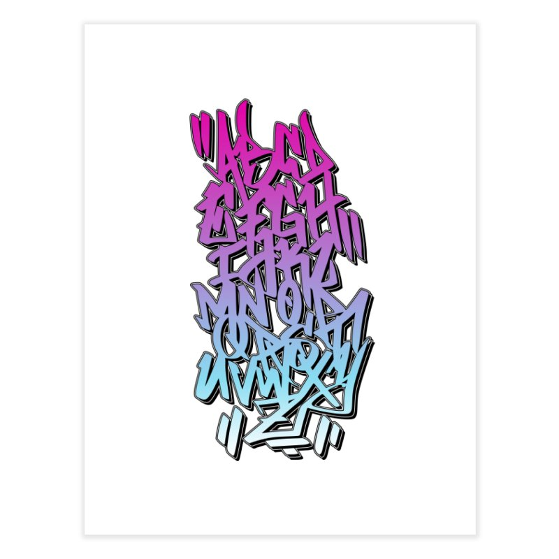 Graffiti Tag ABC - Pink Edition Home Fine Art Print by ARTinfusion - Get your's now!