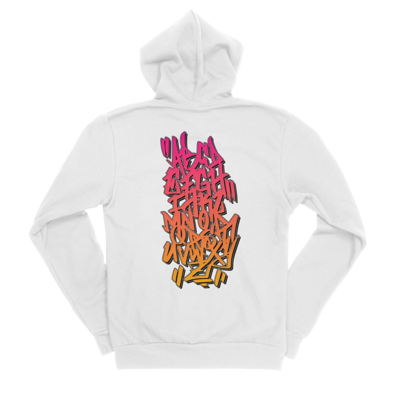 Graffiti Tag ABC - Pink/Orange Edition Men's Zip-Up Hoody by ARTinfusion - Get your's now!