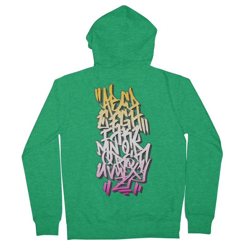 Graffiti Tag ABC - Summer Edition Men's Zip-Up Hoody by ARTinfusion - Get your's now!