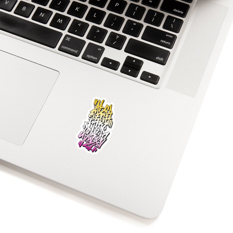 Graffiti Tag ABC - Summer Edition Accessories Sticker by ARTinfusion - Get your's now!