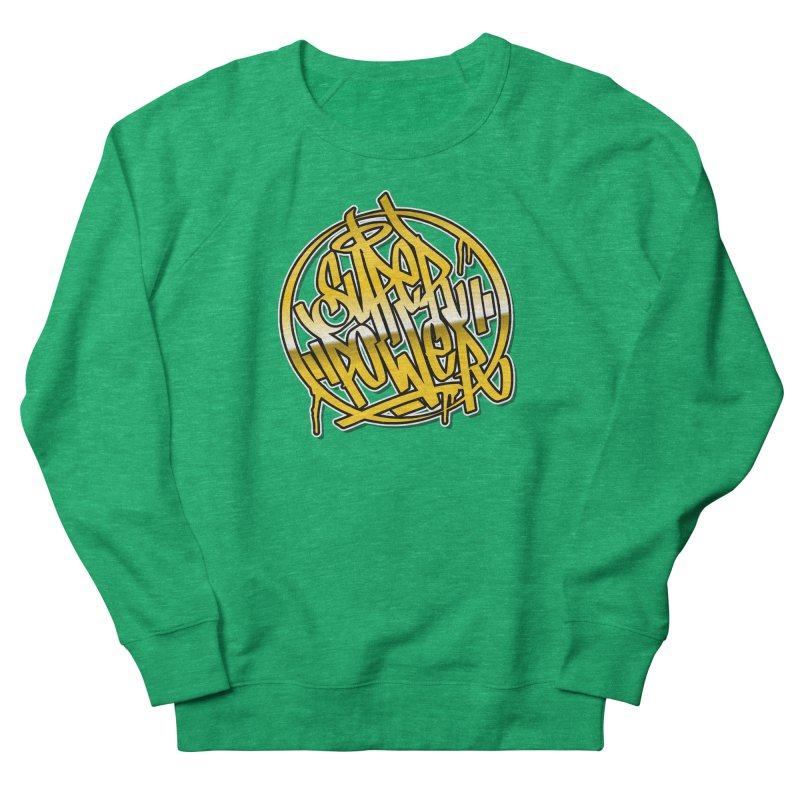 Super Power / Gold Women's Sweatshirt by ARTinfusion - Get your's now!