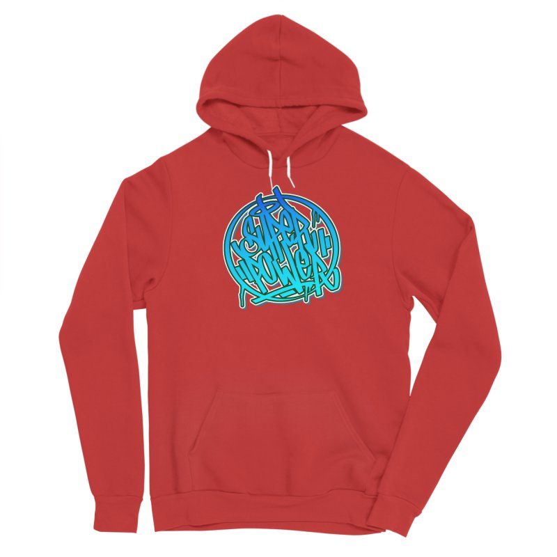 Super Power / Blue Women's Pullover Hoody by ARTinfusion - Get your's now!