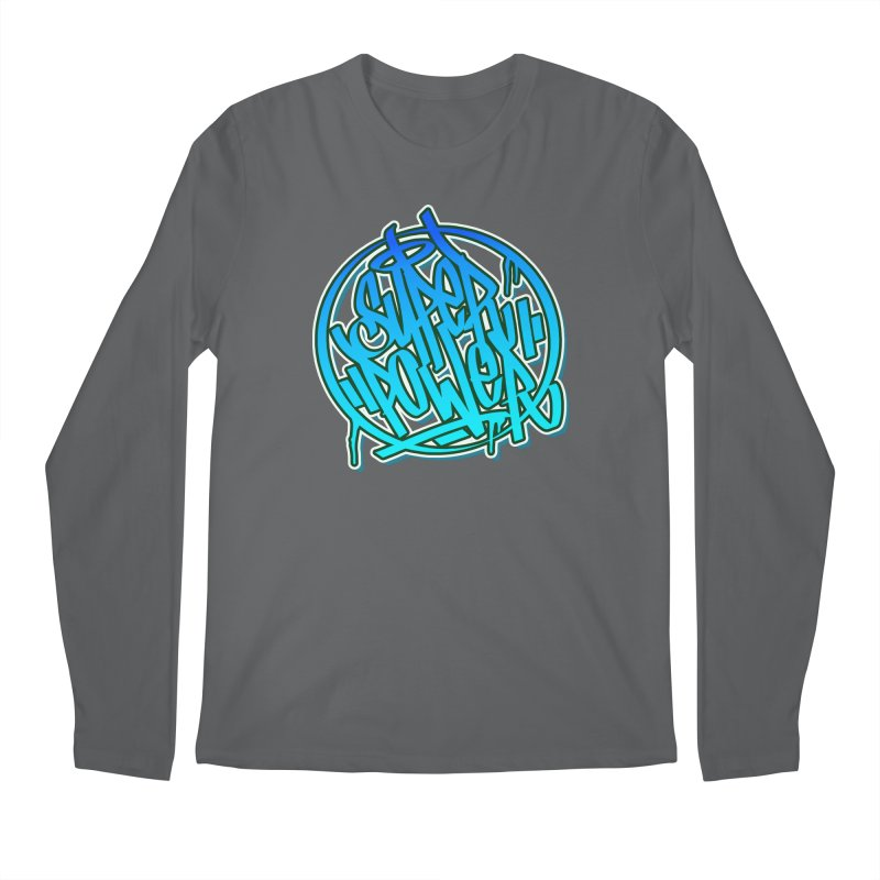 Super Power / Blue Men's Longsleeve T-Shirt by ARTinfusion - Get your's now!