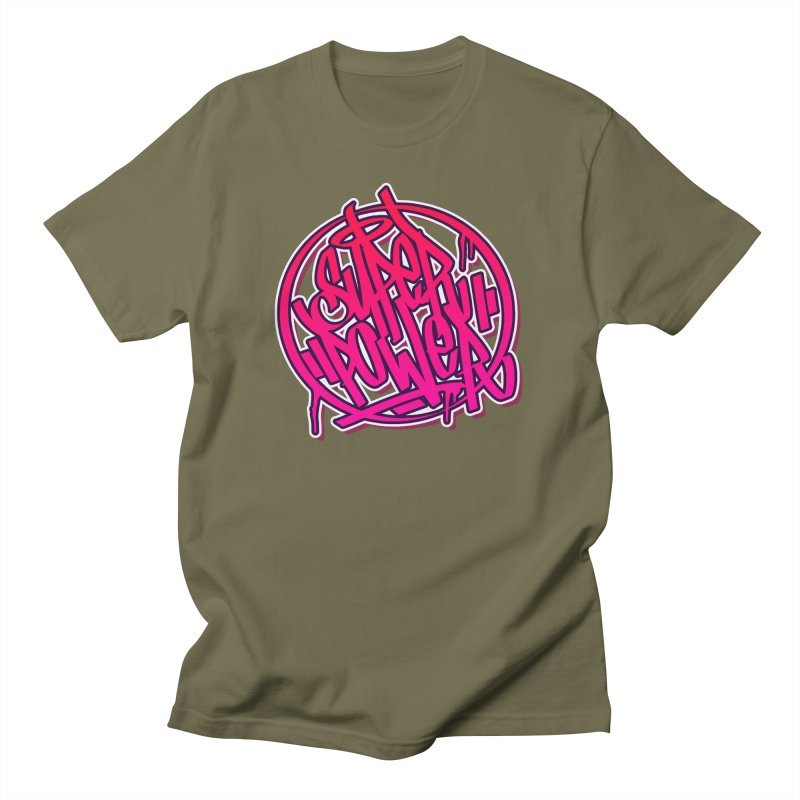 Super Power / Pink Men's T-Shirt by ARTinfusion - Get your's now!
