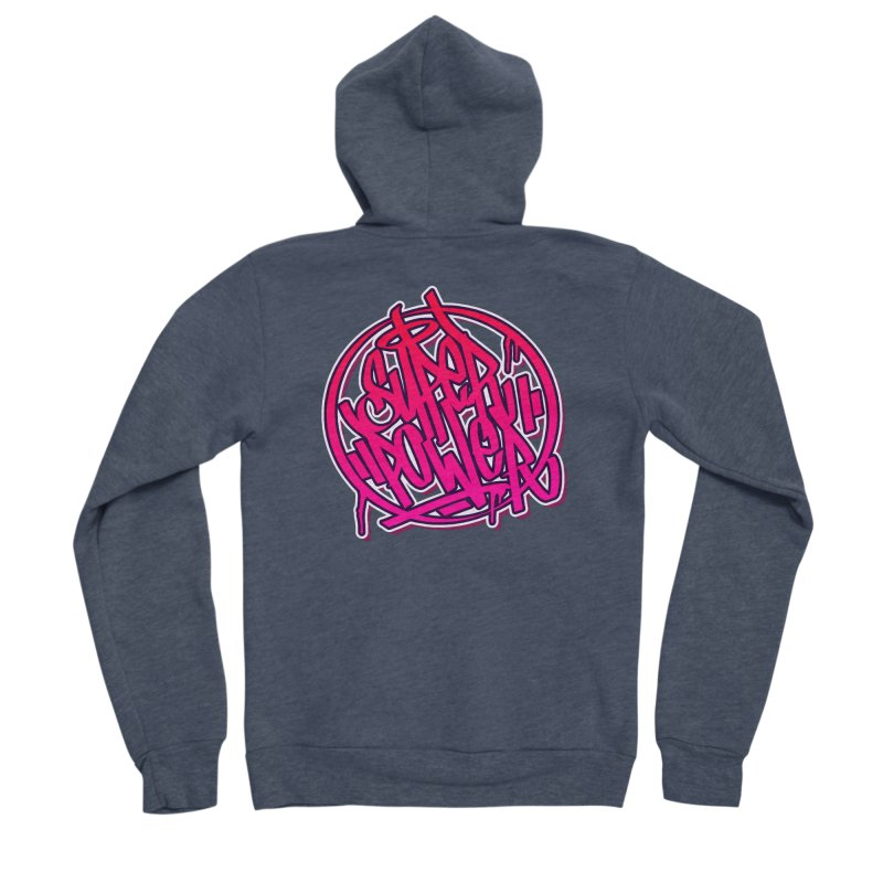 Super Power / Pink Men's Zip-Up Hoody by ARTinfusion - Get your's now!