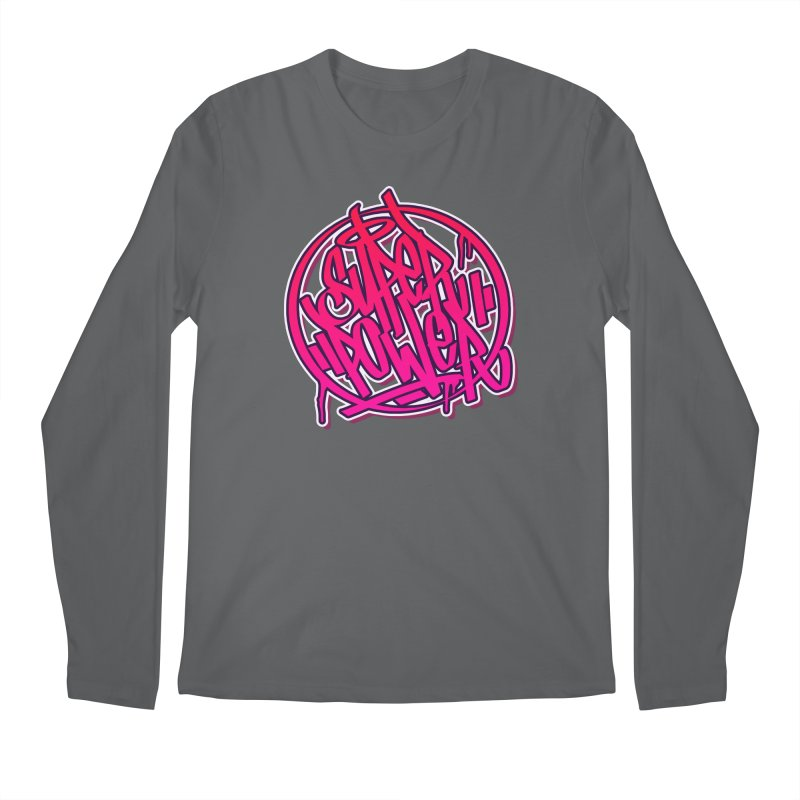 Super Power / Pink Men's Longsleeve T-Shirt by ARTinfusion - Get your's now!