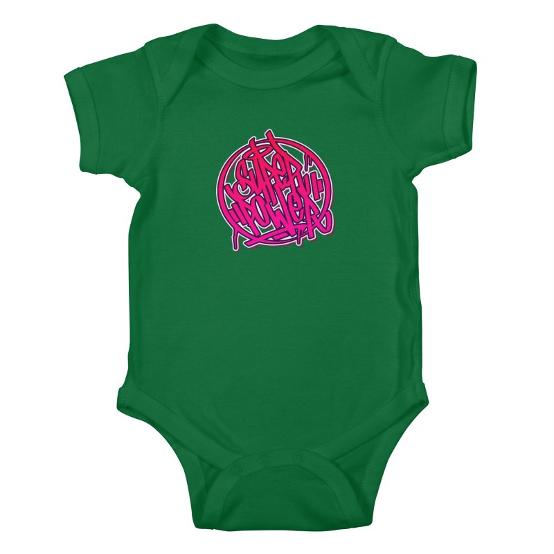 Super Power / Pink Kids Baby Bodysuit by ARTinfusion - Get your's now!