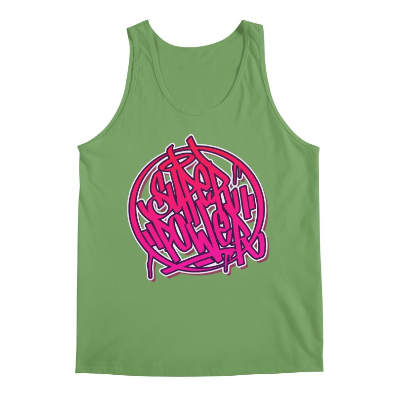 Super Power / Pink Men's Tank by ARTinfusion - Get your's now!
