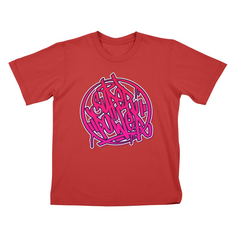 Super Power / Pink Kids T-Shirt by ARTinfusion - Get your's now!