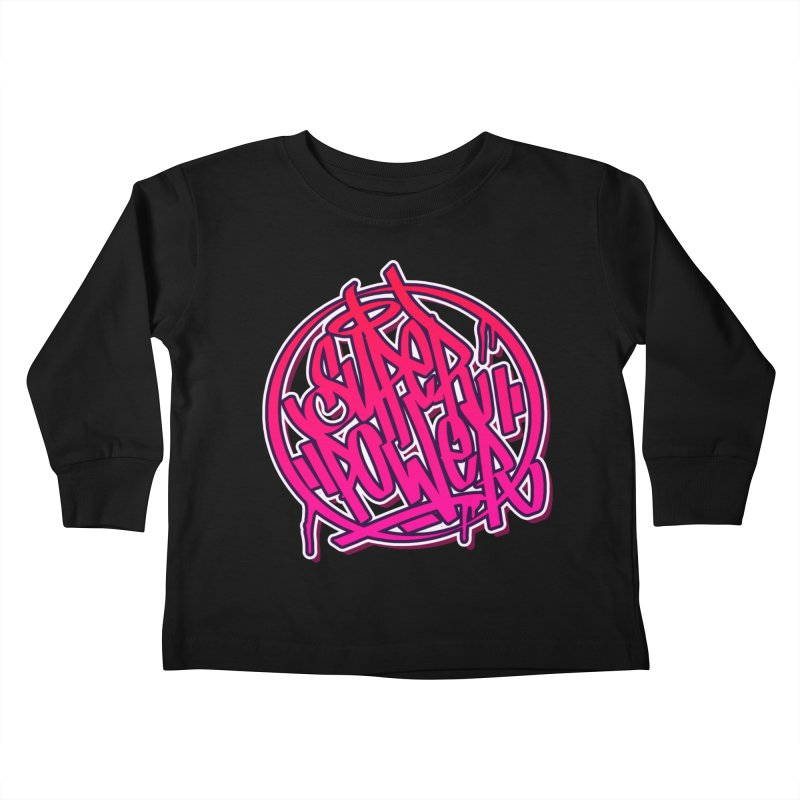 Super Power / Pink Kids Toddler Longsleeve T-Shirt by ARTinfusion - Get your's now!