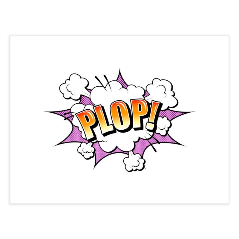 Wow! Zap! Bang! Pow! - Vintage Pop Art Comic Design - Pink - Plop! Home Fine Art Print by ARTinfusion - Get your's now!
