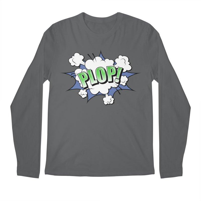 Wow! Zap! Bang! Pow! - Vintage Pop Art Comic Design - Green - Plop! Men's Longsleeve T-Shirt by ARTinfusion - Get your's now!