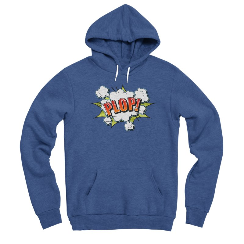 Wow! Zap! Bang! Pow! - Vintage Pop Art Comic Design - Red - Plop! Men's Pullover Hoody by ARTinfusion - Get your's now!